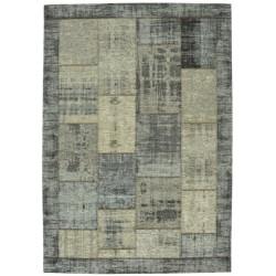 Pablo patchwork vloerkleed - grijs