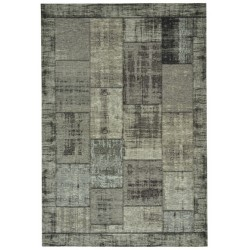 Pablo patchwork vloerkleed - antraciet