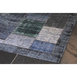 Pablo patchwork carpet green/grey/blue